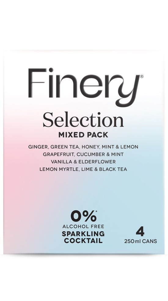 0% Finery Sparkling Cocktail - Mixed Pack 4 pack