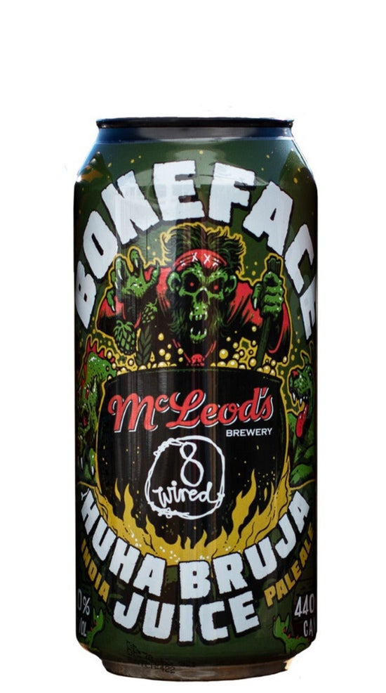 Boneface x McLeod's x 8 Wired Huha Hazy IPA 440ml can