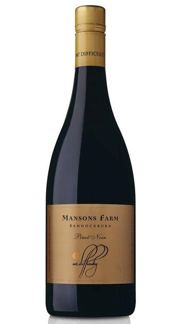 2018 Mt Difficulty Single Vineyard Mansons Farm Pinot Noir