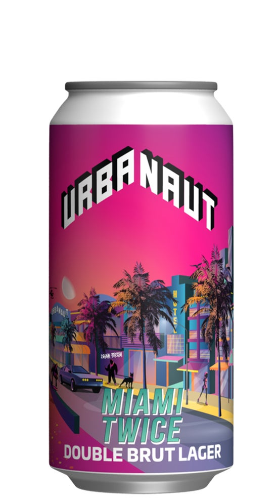 Urbanaut Miami Twice Double Brut lager 440ml can
