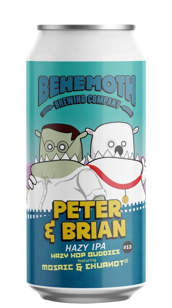 Behemoth Hop Buddies Peter and Brian Hazy IPA 440ml can