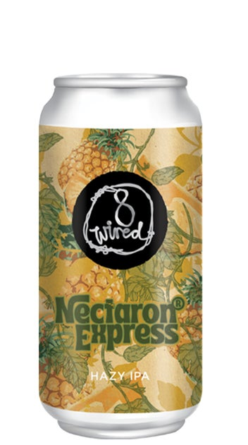 8 Wired Nectaron Express Hazy IPA 440ml can