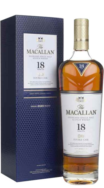 The Macallan Whisky 18yr Old Double Cask 700ml bottle