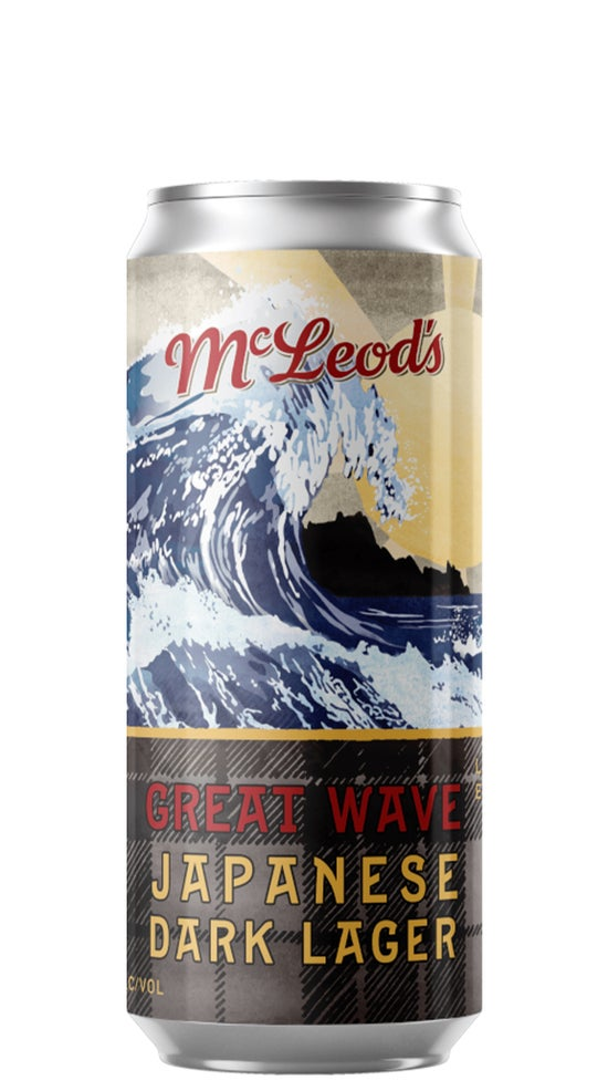 McLeod's Great Wave Japanese Dark Lager 440ml can