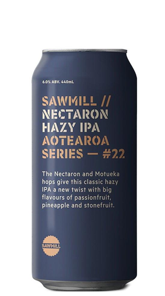 Sawmill Aotearoa IPA Series #22 Nectaron Hazy IPA 440ml can