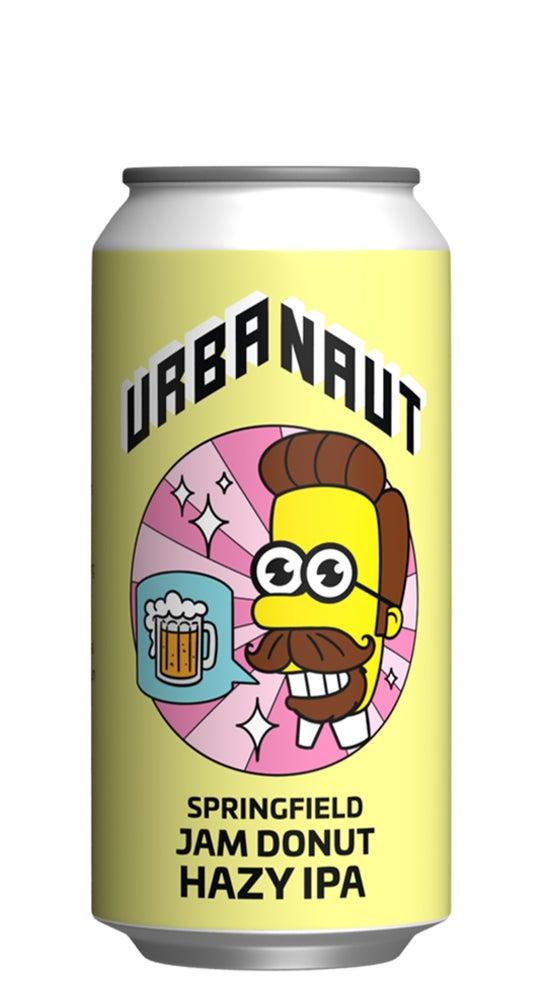 Urbanaut Springfield Jam donut Hazy IPA 440ml can