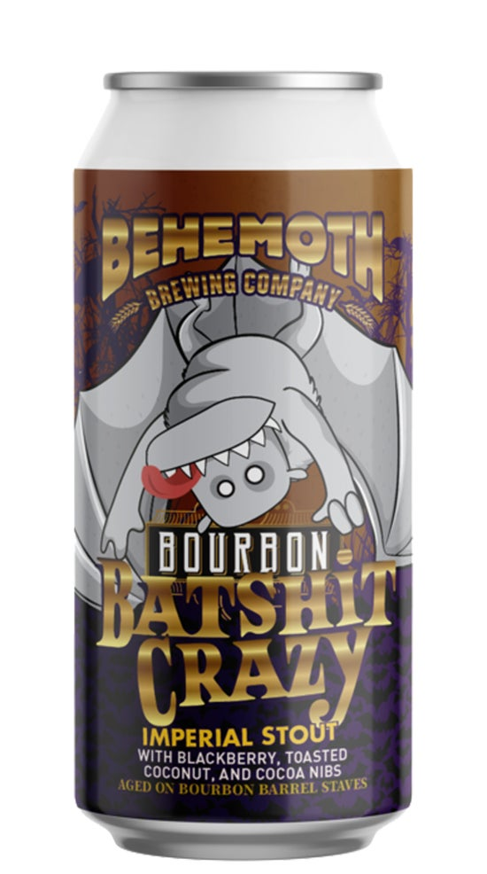Behemoth Bourbon Batshit Imperial Stout 440ml can