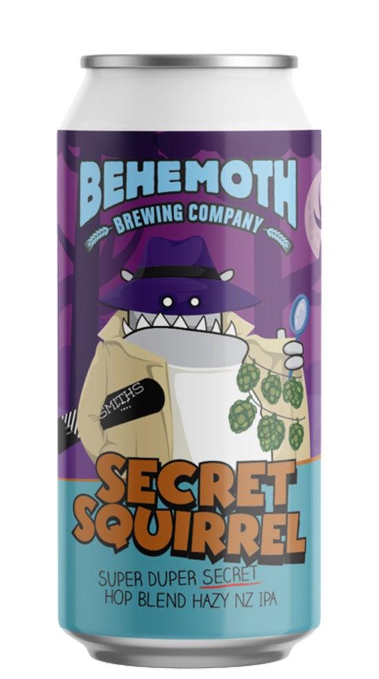 Behemoth Secret Squirrel Hop Blend Hazy IPA 440ml can