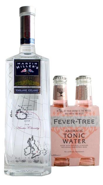 Martin Miller's Gin 700ml & Fever Tree Aromatic tonic water 4 pack
