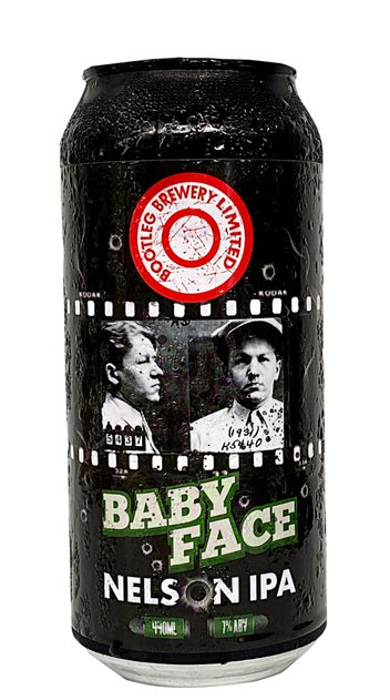 Bootleg Brewery Baby Face Nelson IPA 440ml can