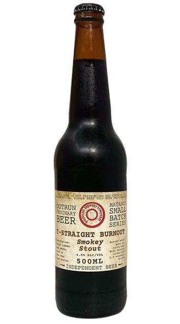 Bootleg Brewing T-Straight Burnout Smokey Stout 500ml bottle