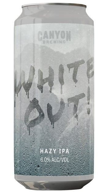 Canyon White Out Hazy IPA 440ml can
