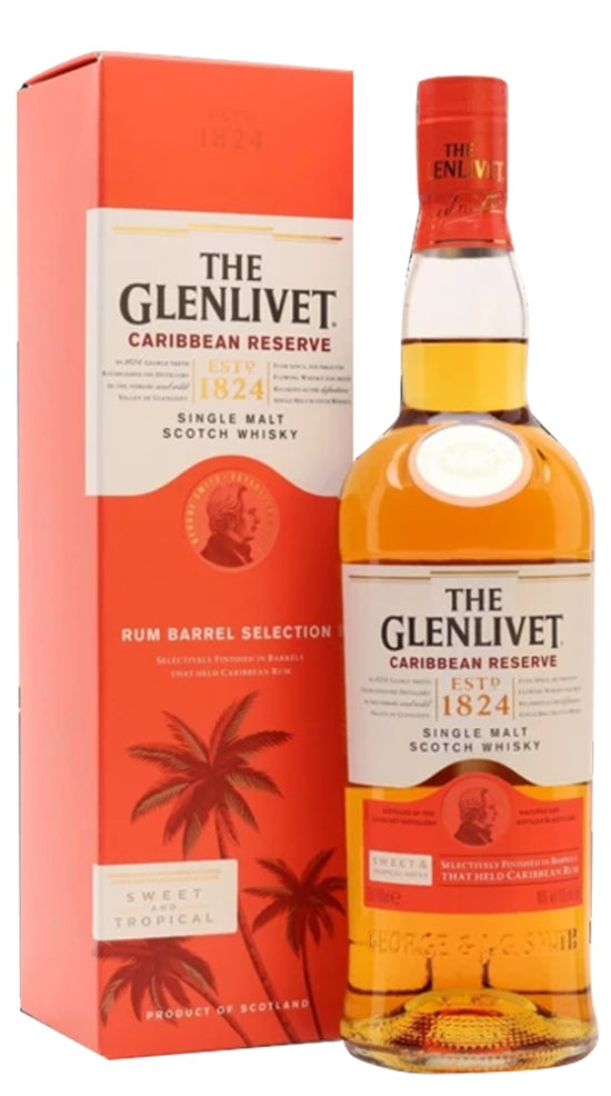 The Glenlivet Caribbean Reserve 700ml bottle