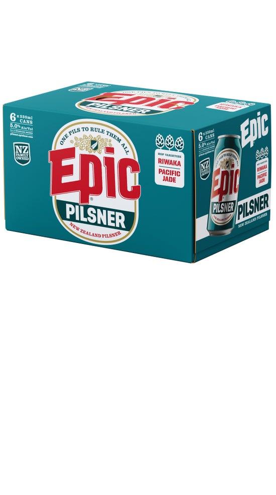 Epic NZ Pilsner 6pk 330ml cans
