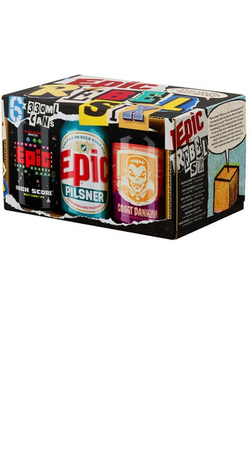 Epic Rebel Six 6 Pack 330ml cans