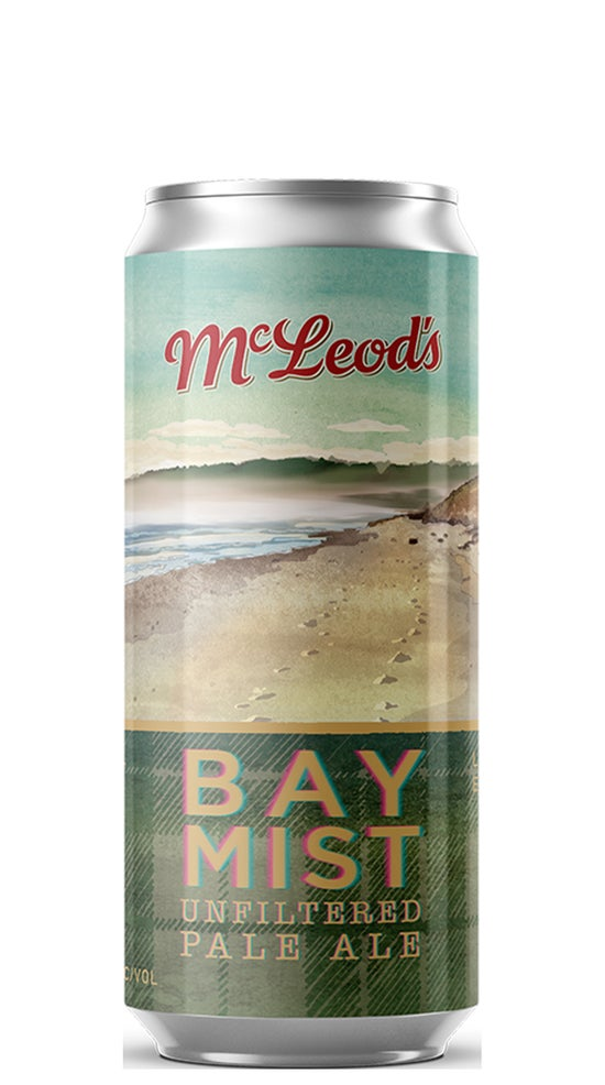 McLeod's Brewery Bay Mist Unfiltered Pale Ale 440ml can