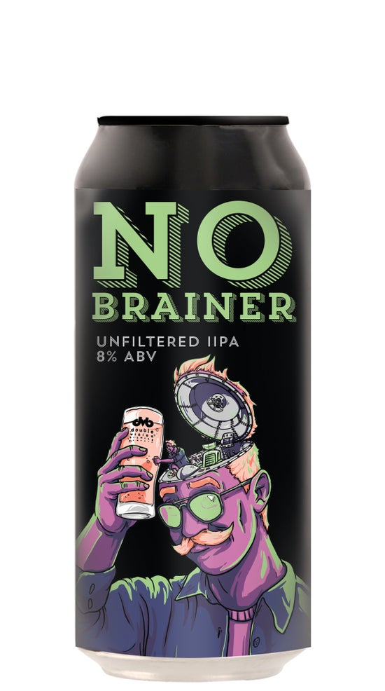 Double Vision No Brainer Unfiltered Double IPA 440ml can