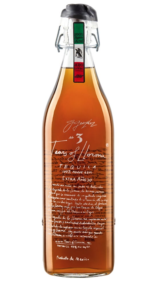 Tears of Llorona Extra Anejo Tequila 1 Litre bottle