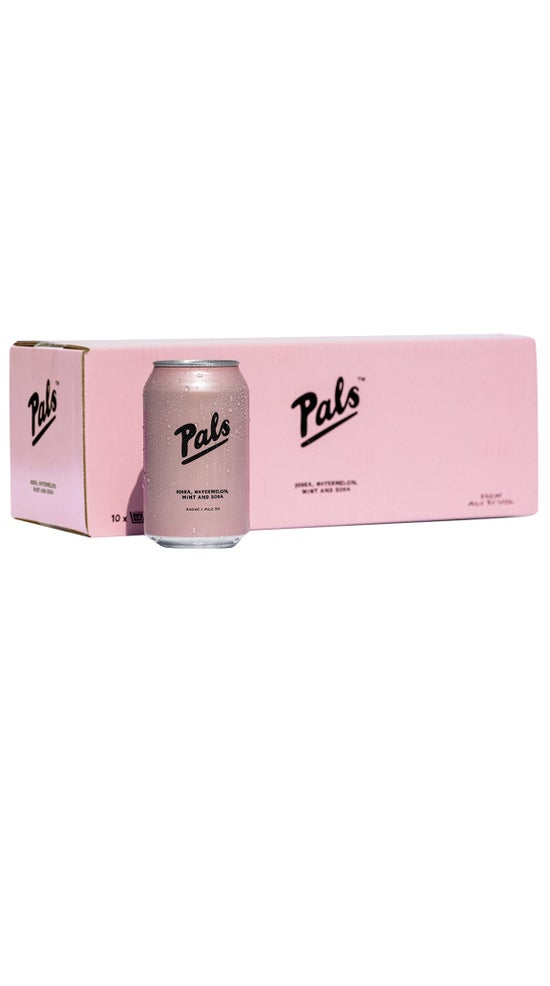 Pals Vodka, Watermelon, Mint & Soda 10pk 330ml cans