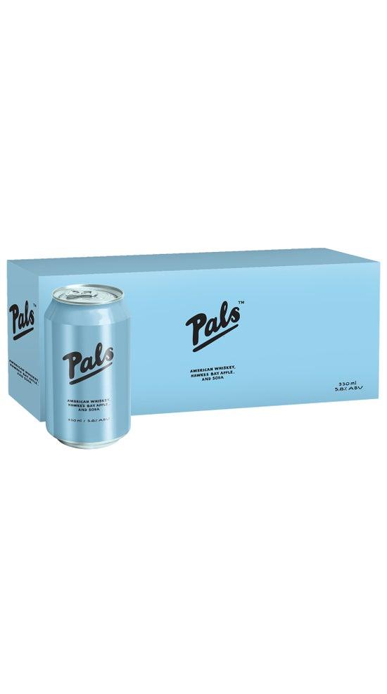Pals American Whiskey, Hawke's Bay Apple & Soda 10pk 330ml cans