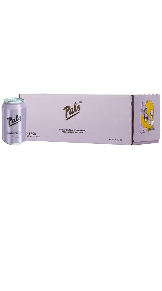 Pals Vodka, Central Otago Peach, Passionfruit & Soda 10pk 330ml cans