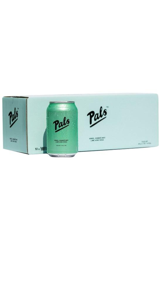 Pals Vodka, Hawke's Bay Lime & Soda 10pk 330ml cans