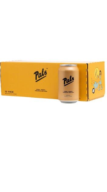 Pals Vodka, Mango, Pineapple & Soda 10pk 300ml cans